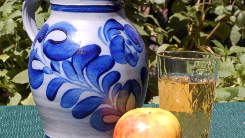 Bembel, Geripptes und Apfel