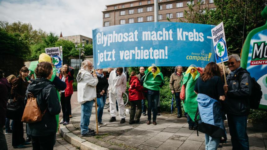 Anti-Glyphosat-Protest von campact aus dem Jahr 2015