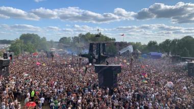 Musikfestival Fusion von oben gesehen