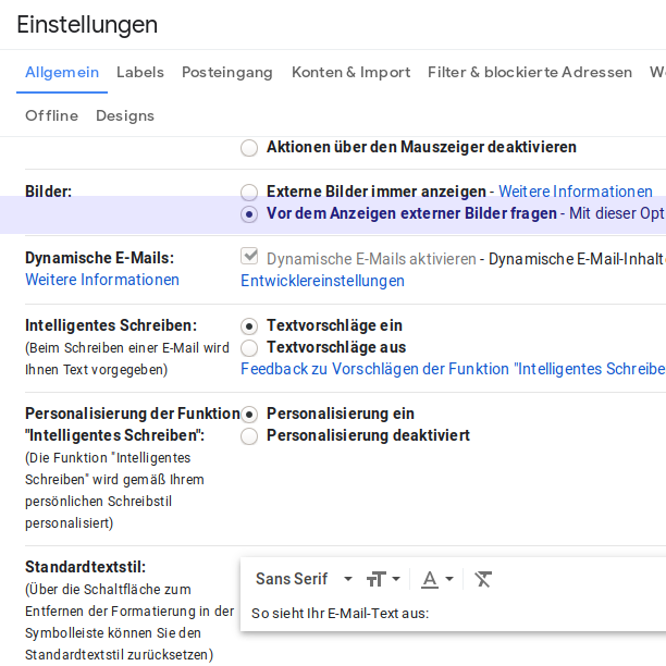 Screenshot Gmail