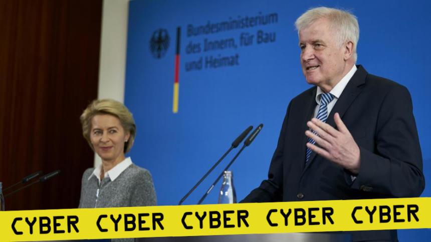 Bundesinnenminister Seehofer und Bundesverteidigungsministerin von der Leyen