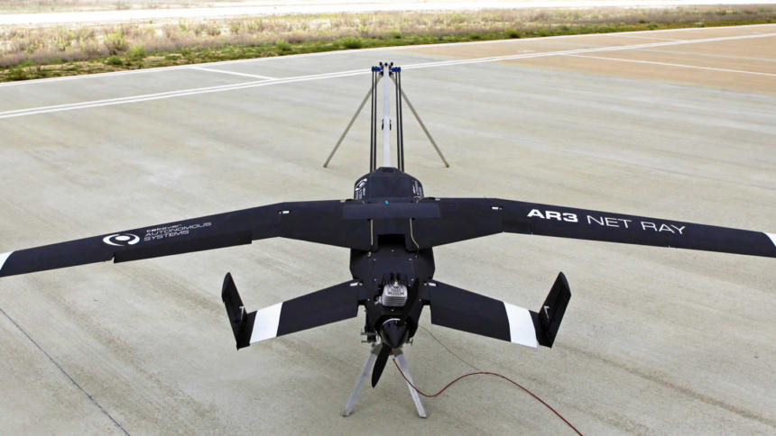 """Die portugiesische Drohne """"AR 3""""."""