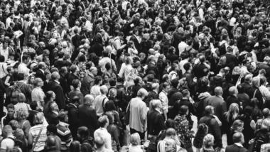 Menschenmenge, Schwarz-weiß, Crowd