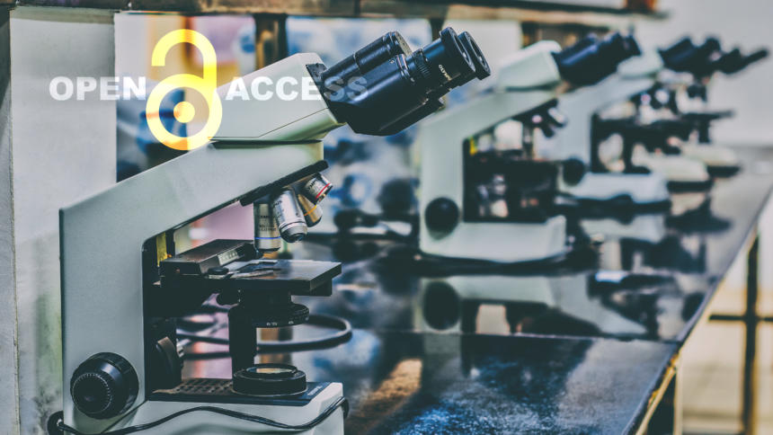 Mikroskope mit Open-Access-Logo