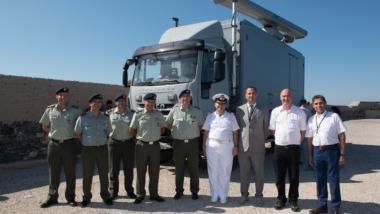 Mobiles Lagezentrum der portugiesischen Nationalgarde.