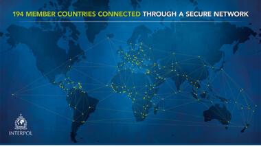 Präsentationsfolie von Interpol