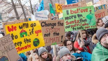 Schüler protestieren gegen die Klimakrise