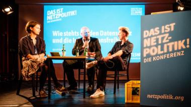 Lea Pfau, Ulrich Kelber und Ingo Dachwitz