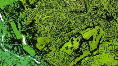 Luftbild mit Umweltdaten aus Großbritannien