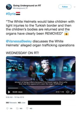 Russische Propaganda gegen Weißhelme