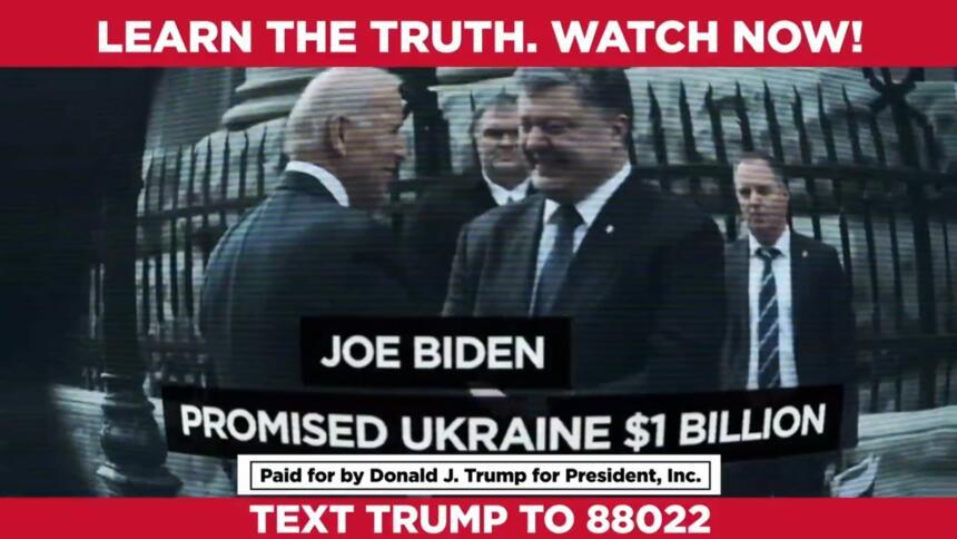 Trumps umstrittenes Video über Joe Biden und die Ukraine
