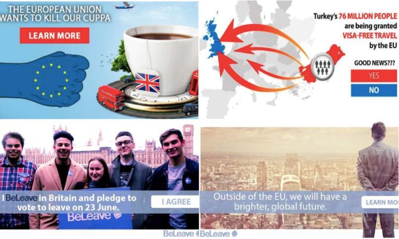 Brexit-Werbung aus obskurer Quelle