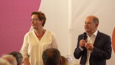 SPD-Kandidat:innen-Team Geywitz und Scholz.