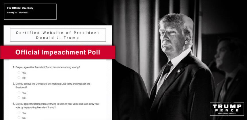 Facebook-Umfrage von Donald Trump