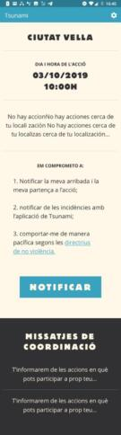 Screenshot App Tsunami Democratico