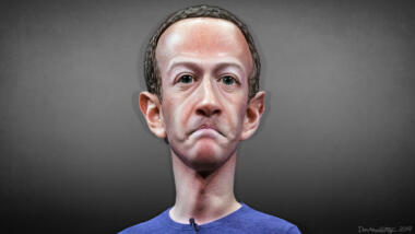 Karikatur von Mark Zuckerberg (Symbolbild)