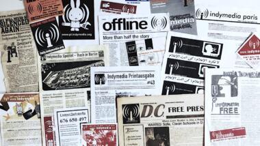 Collage aus Indymedia-Bildern