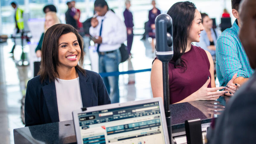Delta Air Lines reveals their new biometric face-detection technology at Hartsfield-Jackson International Airport in Atlanta, Ga. on Wednesday, October 17, 2018.