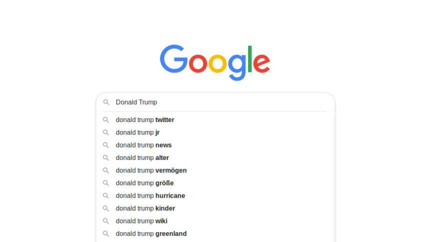 Google Suchergebnisse für Donald Trump