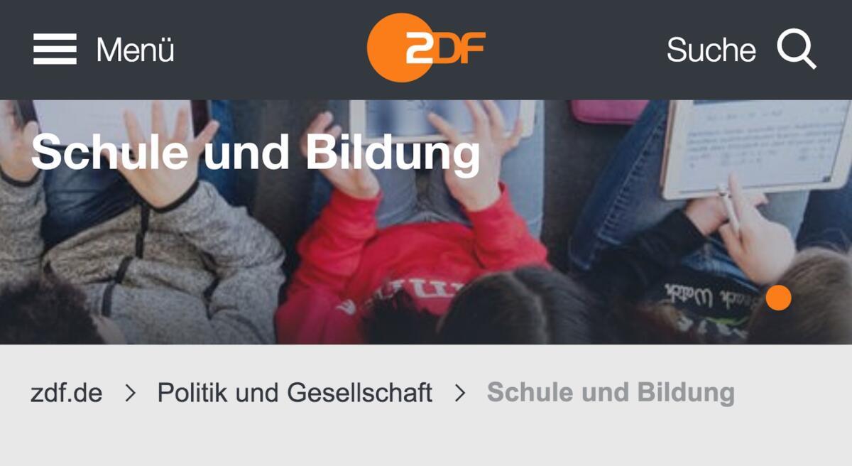 Screenshot ZDF Bildungsportal