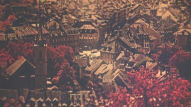 Blick auf die Stadt Bern