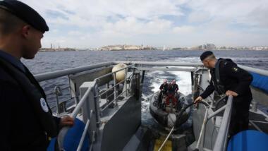 Frontex-Schiff