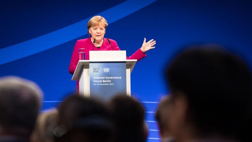 Angela Merkel auf dem IGF in Berlin