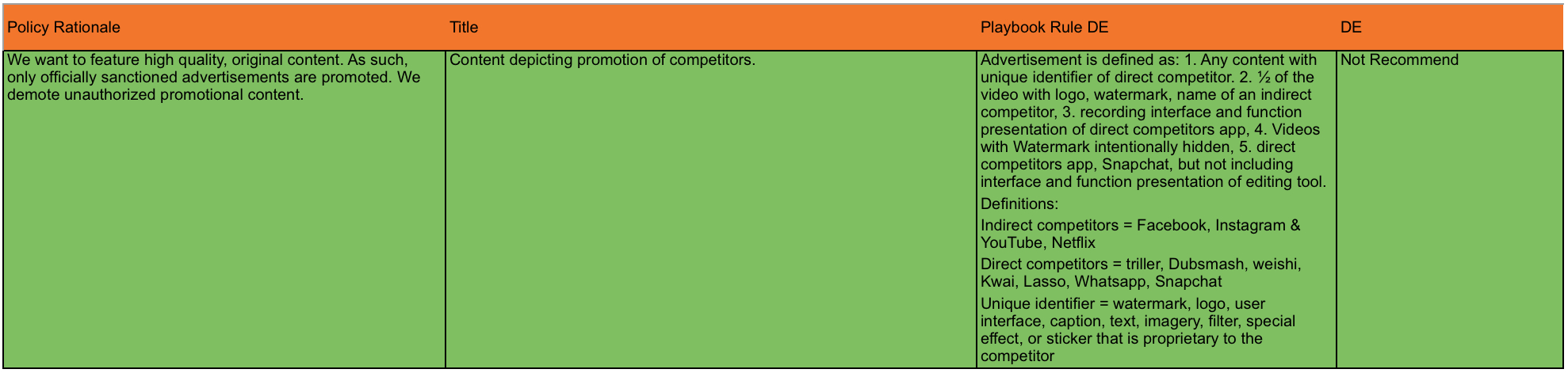 Screenshot Moderationsregel TikTok