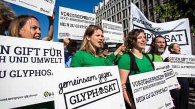 Demonstrierende gegen Glyphosat