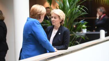 Merkel und Von der Leyen