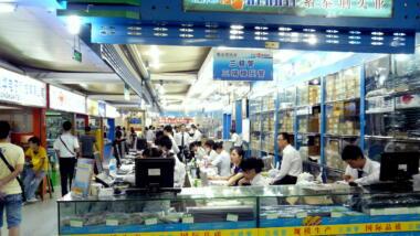 Elektronik-Großmarkt in Shenzhen
