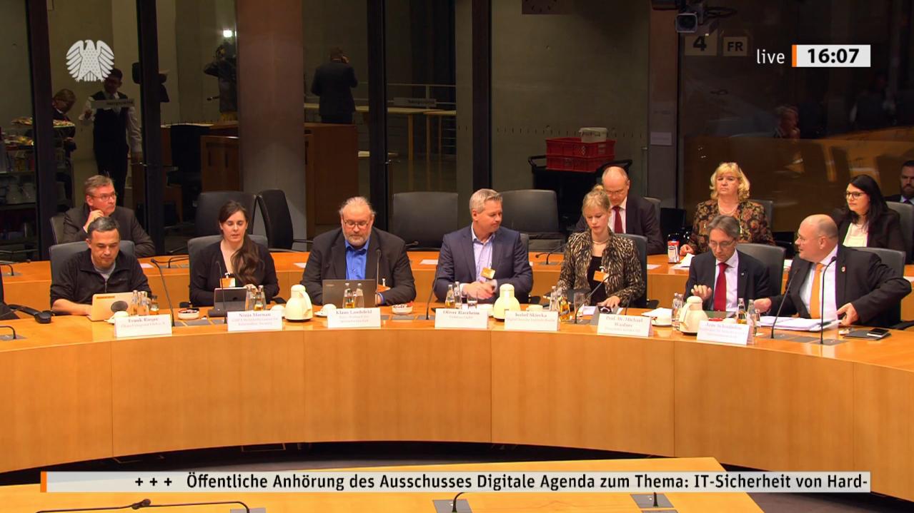 Screenshot der Anhörung