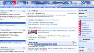 Screenshot von berlin.de (2006)