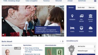 Screenshot von berlin.de im Dezember 2019