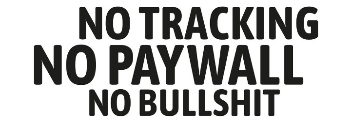 no tracking, no paywall