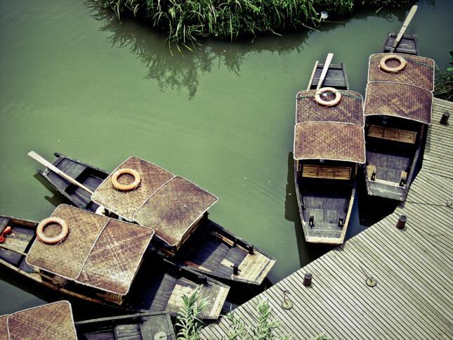 Dschunken in Hangzhou
