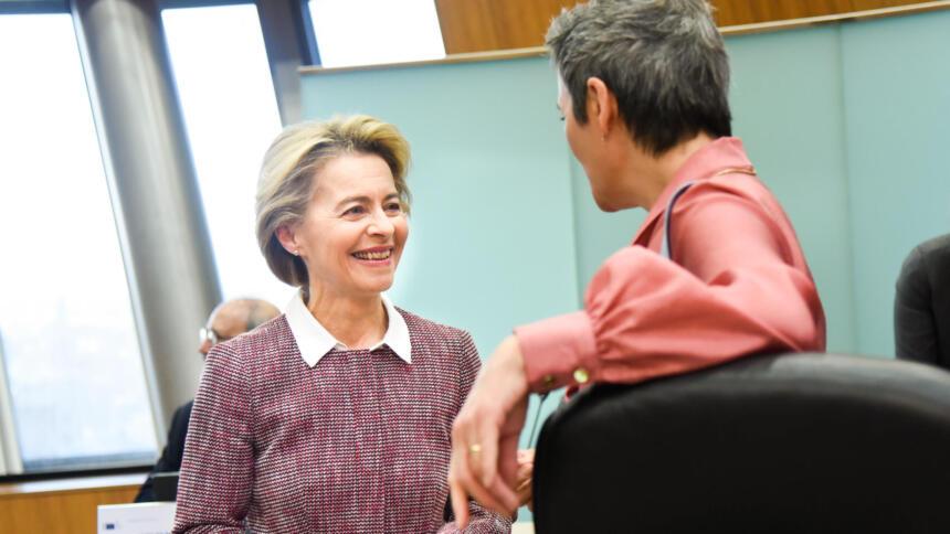 Digitalchefinnen: Von der Leyen und Vestager