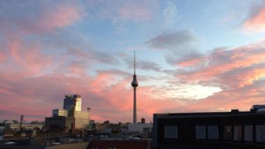 Feuerroter Fernsehturm Berlin