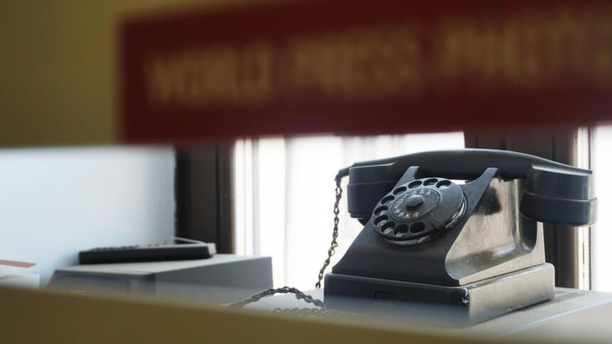 Altes Wählscheibentelefon