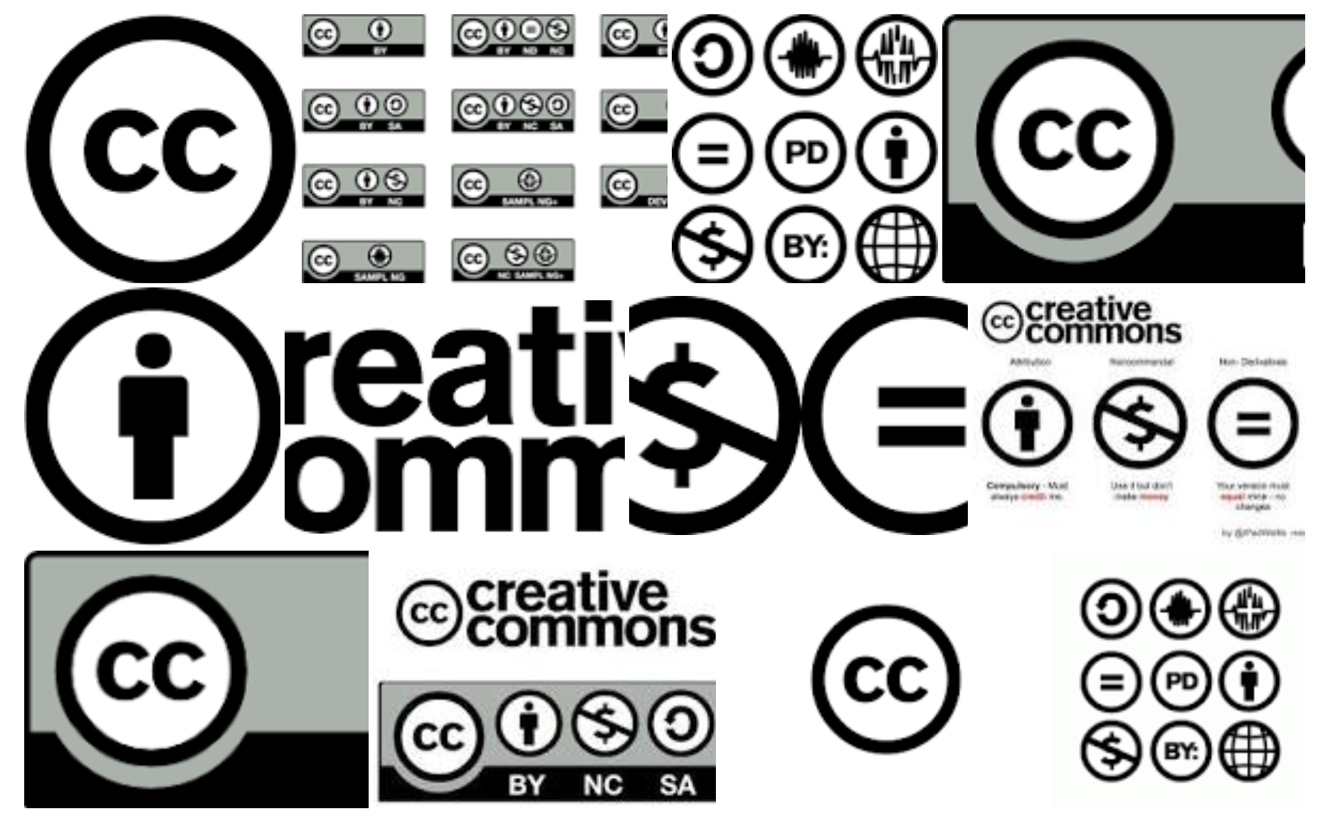 Screenshot von Google-Bildersuche nach Creative Commons Logos