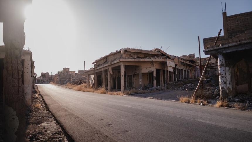 Zerstörte Stadt Shingal