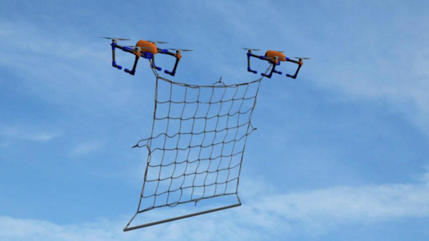 Drohnen mit Fangnetz