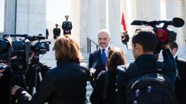 Albaniens Ministerpräsident Edi Rama pflegt ein schwieriges Verhältnis zu unabhängigen Medien.