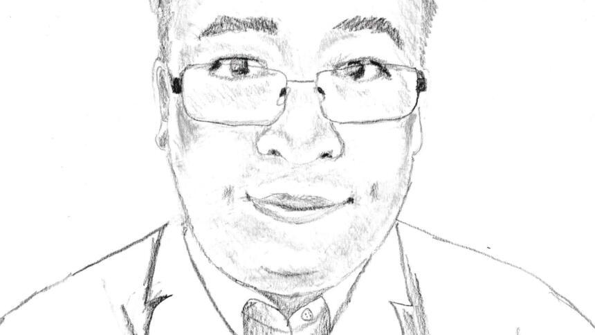 Bleistiftzeichnung des chinesischen Arztes Li Wenliang