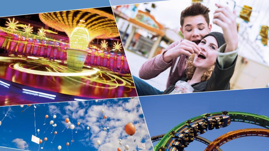 Karusell, Selfie, Ballons, Achterbahn
