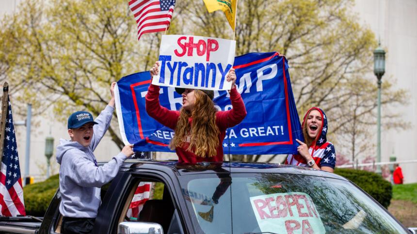 Demonstranten in Pennsylvanien