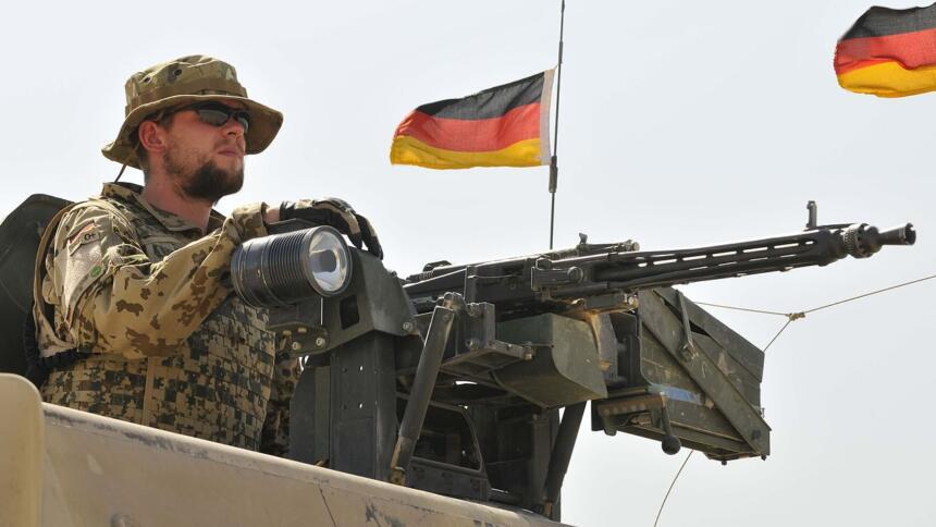 Ein Bundeswehrsoldat in Afghanistan