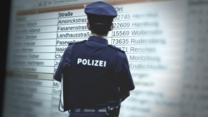 So ähnlich scheinen die Listen ausgesehen zu haben, die in mehreren Bundesländern an die Polizei übermittelt wurden. (Symbolbild)
