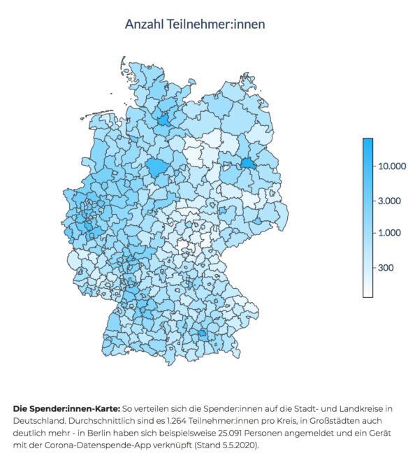 Verteilung der Spender:innen in Deutschland