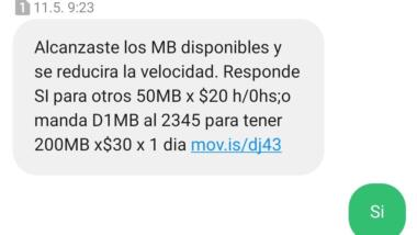 SMS-Kommunikation mit Movistar